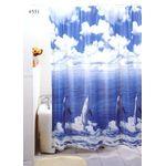 Шторы для ванн ПВХ 180х180см Тайвань (1/24) 551
