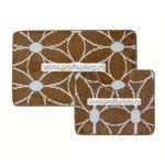 Комплект ковриков для в/к BANYOLIN CLASSIC COLOR из 2 шт 55х90/55х45см (51) 11мм (коричневый) 1/25