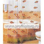 911 Шторы для ванн ПВХ 180х180см(1/24)