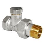 Запорный клапан для радиатора прямой 1/2 AQUALINK
