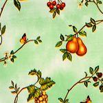 """Клеенка на тк/о ПЕРМЬ 1,3х25м """"Фруктовый сад"""" (зеленый)"""
