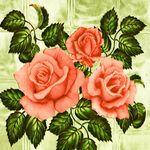 "Клеенка на тк/о ПЕРМЬ 1,3х25м ""Роза на стекле"" (зеленый)"