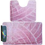 Комплект ковриков для в/к BANYOLIN CLASSIC из 2 шт 55х90/55х45см 11мм (пудра) 1/25