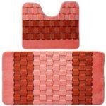 Комплект ковриков для в/к BANYOLIN SILVER из 2 шт 50х80/50х40см 11мм (персиковый) 1/25
