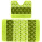Комплект ковриков для в/к BANYOLIN SILVER из 2 шт 50х80/50х40см 11мм (зеленый) 1/25