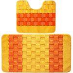 Комплект ковриков для в/к BANYOLIN SILVER из 2 шт 50х80/50х40см 11мм (желтый) 1/25