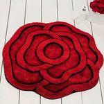 Коврик для в/к CASTAFIORE AKRYL PRO_FORMA из 1 шт D90см ROSE (красный) 1/25