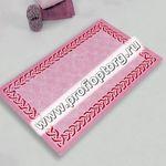 Коврик для в/к CASTAFIORE NATURALE из 1 шт 60х100см хлопковый PIETRE 03 8мм (розовый) 1/20