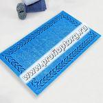 Коврик для в/к CASTAFIORE NATURALE из 1 шт 60х100см хлопковый PIETRE 12 8мм (голубой) 1/20