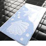 Коврик для в/к BANYOLIN CLASSIC COLOR из 1 шт 55х90см Ракушка 11 мм (голубой) 1/40