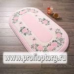 Коврик для в/к CONFETTI BELLA из 2 шт 57х100см ROSE FRAME  (розовый) 1/20