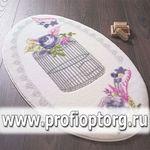Коврик для в/к CONFETTI BELLA из 2 шт 66х107см FLOWER CAGE  (пурпурный)