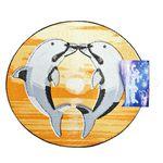 Коврик для в/к из ПВХ ВИЛИНА 65х48см Дельфин (фигурный) 1/15