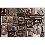 Коврик придверный ПВХ PIN-MAT HOMEMAT FOTOPRINT 40х60см #05 Цифры Бронза 1/20