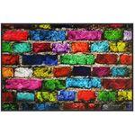 Коврик придверный ПВХ PIN-MAT HOMEMAT FOTOPRINT 40х60см #08 Кирпич Цветной 1/20