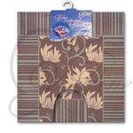 Набор ковриков для в/к из ПВХ ВИЛИНА из 2шт 50х85см (коричневый) 1/20