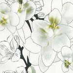 "Клеенка на н/о ДЕКОМИР 1,32х20м ""Орхидея Ванда"" (прозрачный)"