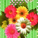"Клеенка на тк/о ПЕРМЬ 1,3х25м ""Цветы на плетенке"" (зеленый)"