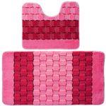 Комплект ковриков для в/к BANYOLIN SILVER из 2 шт 50х80/50х40см 11мм (розовый) 1/25