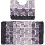 Комплект ковриков для в/к BANYOLIN SILVER из 2 шт 50х80/50х40см 11мм (серый) 1/25