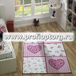 Коврик CONFETTI KIDS из 1 шт 100х160см ROMANTIC  (розовый)