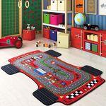 Коврик CONFETTI KIDS из 1 шт 133х190см RUGS RACER ANTI-SLIP  (красный) 1/8