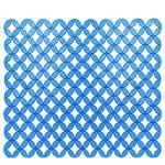 Коврик для раковины AQUA-PRIME Кружки 31х25см (синий) 1/80