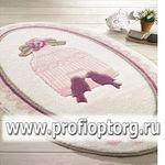 Коврик для в/к CONFETTI BELLA из 1 шт 66х107см BIRD CAGE  (розовый)
