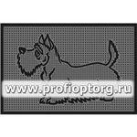 Коврик придверный резиновый PIN-MAT БМ 40х60см Скотч-терьер 1/25