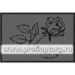 Коврик придверный резиновый PIN-MAT БМ 45х75см Роза 1/15