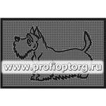 Коврик придверный резиновый PIN-MAT БМ 45х75см Скотч-терьер 1/15