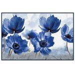 """Коврик универс. HOMEMAT TAFT FOTOPRINT 57х90см """"URN-10 Цветы Голубые"""" 1/10"""