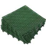 """Модульное пластиковое покрытие """"Мозаика"""" 9шт 1кв.м (зеленый)"""