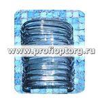 Набор пластиковых колец для штор в ванную AQUA-PRIME 12шт прозрачный (1/60)