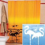 Шторы для ванн полиэстер MIRANDA FLAMINGO (голубой) 1/35
