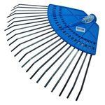 Грабли веерные АИ пластинчатые 20 зубьев на пластмассовой основе с черенком 1 сорт