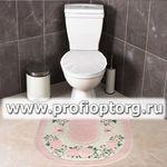 Коврик для в/к CONFETTI BELLA из 1 шт 50х57см ROSE FRAME (розовый)