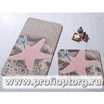 Коврик для в/к CONFETTI BELLA из 2 шт 57х100см STARFISH  (розовый)