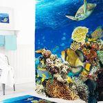 Шторы для ванн полиэстер Tropikhome DIGITAL PRINTED Aquarium 180х200