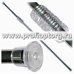 Карниз телескоп. для в/к с кольцами SweetSun 110-220см хром (1/60)