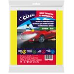 Салфетка для авто CLEANIA микрофибра 35х40см 3шт 1/100