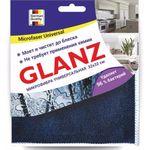 Салфетка универс. GLANZ м/фибра 32*32см т-син., бел. CLE133 (1/50)