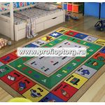 Коврик CONFETTI KIDS RUGS LESSON (3мм) 100х150см синий  (1/10)