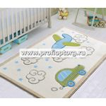 Коврик CONFETTI KIDS BABY ROAD (9мм) 100x150см белый (1/8)