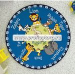 Коврик CONFETTI KIDS RUGS ANIMAL PLANET (3мм) D133см синий  (1/10)